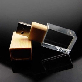 Флешка деревянная Glass