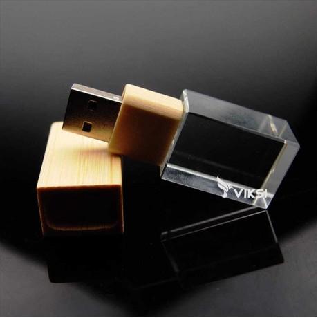 10шт. Флешка деревянная Glass