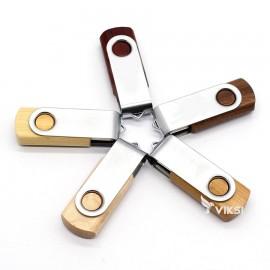 Флешка деревянная Wooden Metal