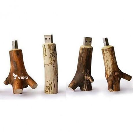 Лот 10шт. Флешка деревянная Branch