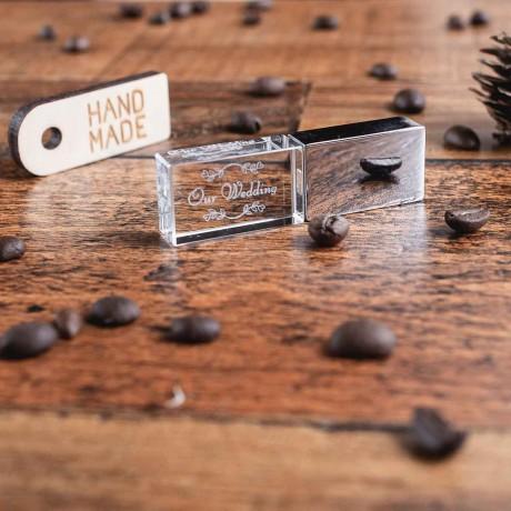 Флешка cтеклянная Metal-Glass