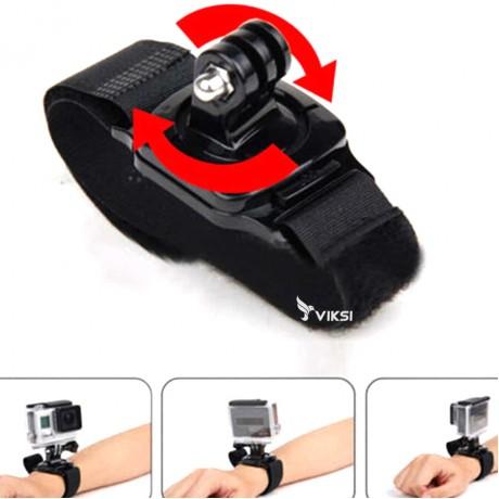 Ремень, крепление GoPro на руку (узкое, поворотное на 360)