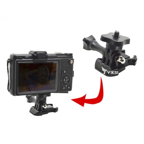 Адаптер-переходник для GoPro с резьбой 1/4 - квадрат