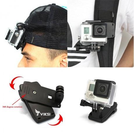 Зажим, прищепка, крепление для экшин камер GoPro