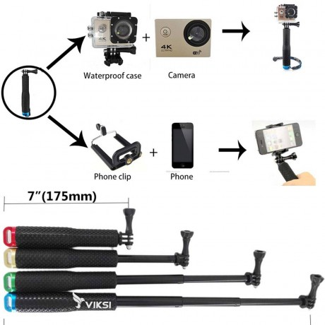 Телескопическая селфи-палка, монопод для GoPro