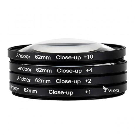 Набор макролинз 62 мм Close-up для макросъемки