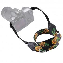 Цветной фото ремень для камеры (цветочный принт) Тип4