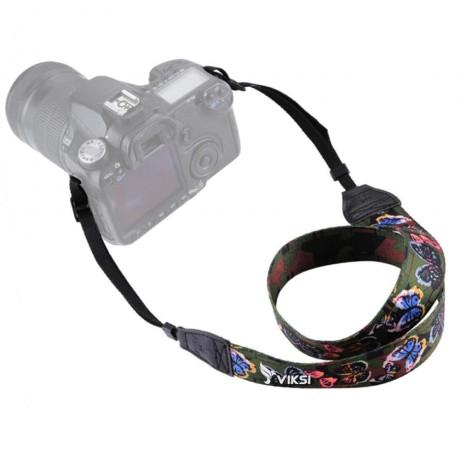Цветной фото ремень для камеры (цветочный принт) Тип6