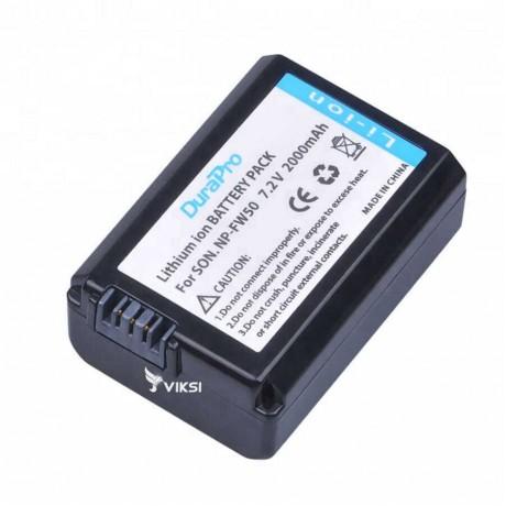 Аккумулятор NP-FW50 для Sony A7R, A3000, NEX-5 (2000 мА*ч) DuraPro
