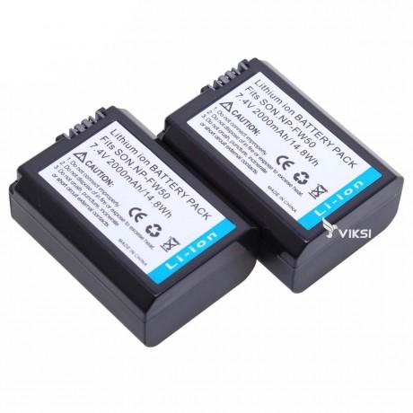 Аккумулятор и зарядное NP-FW50 для Sony A7R, A3000, NEX-5 (2000 мА*ч)
