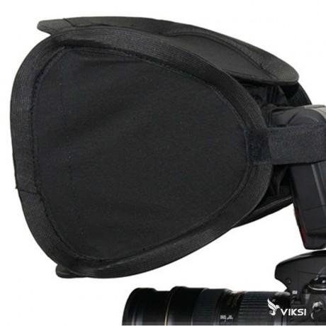 Накамерный портативный софтбокс 23 х 23 см на фотовспышку Canon, Nikon