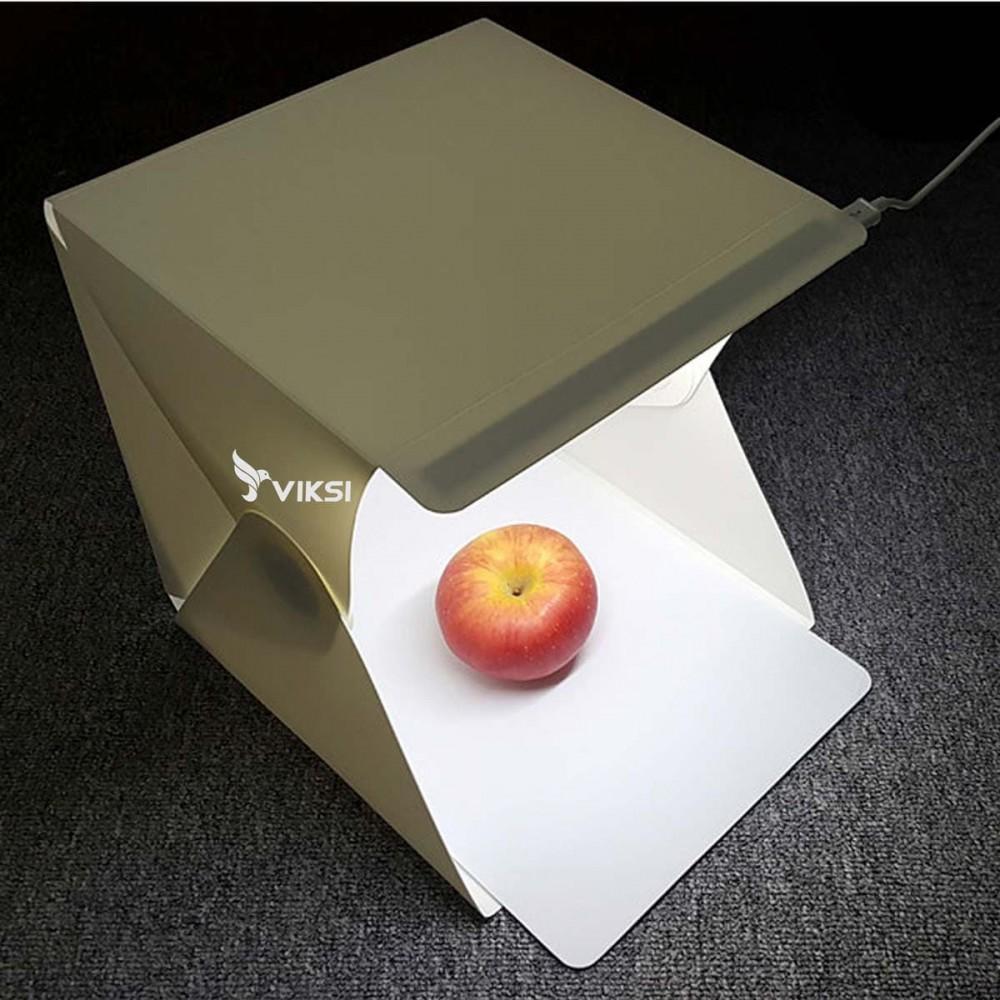Фотобокс, лайткуб 22х23 см  с LED подсветкой (на магнитах)