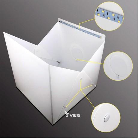 Фотобокс, лайткуб 30x30 см с LED подсветкой и отверстием для фотоаппарата