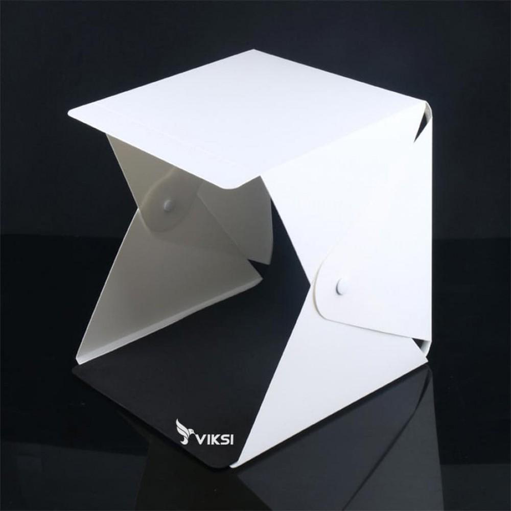 Фотобокс, лайткуб 24x22  см с LED подсветкой и защелками