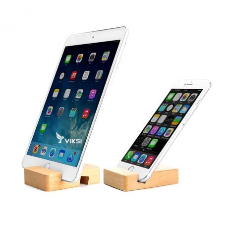 Портативная деревянная подставка для телефона