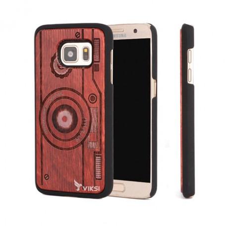 Чехол деревянный Camera для Samsung S7