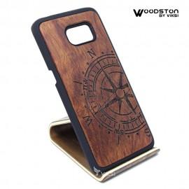Чехол деревянный Compass для Samsung S7