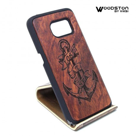 Чехол деревянный Anchor для Samsung S7