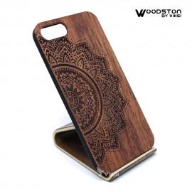 Чехол деревянный Flower для iPhone 7 Plus/8 Plus