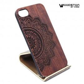 Чехол деревянный Flower для iPhone 7/8