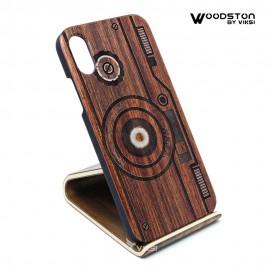 Чехол деревянный Camera для iPhone Х
