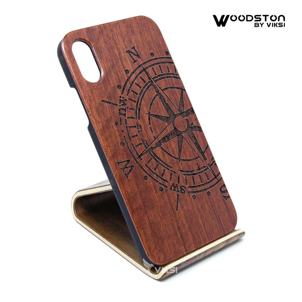 Чехол деревянный Compass для iPhone Х