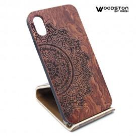 Чехол деревянный Flower для iPhone Х
