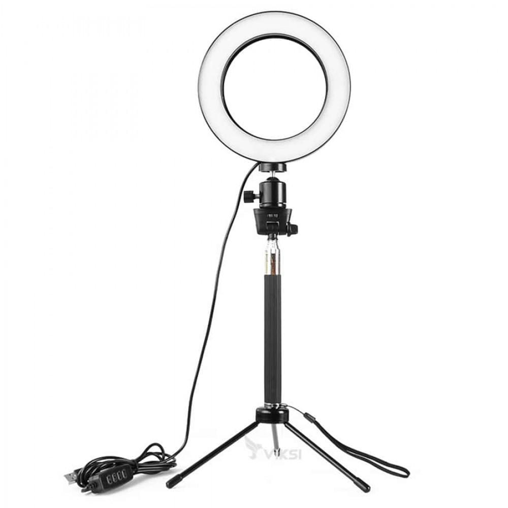 Круговой свет на стойке для фото и видео  (64 светодиодов)