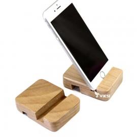 Портативная деревянная подставка-держатель для iPhone и Samsung