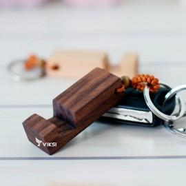 Брелок-подставка для телефона из дерева Vivid