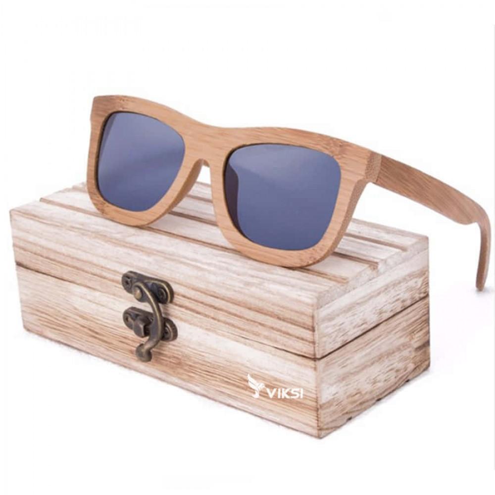 Солнцезащитные деревянные очки Chicago Gray