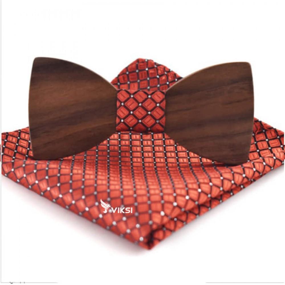 Стильная деревянная бабочка Classic Red
