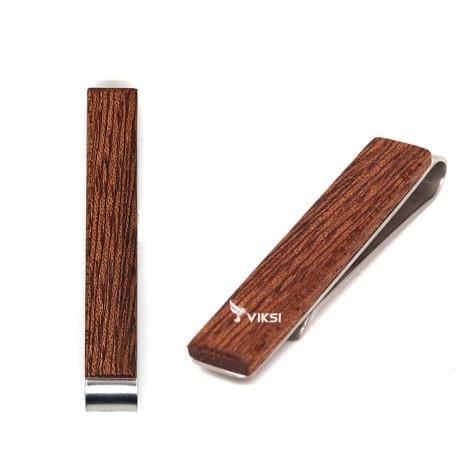 Деревянный зажим для галстука Dark