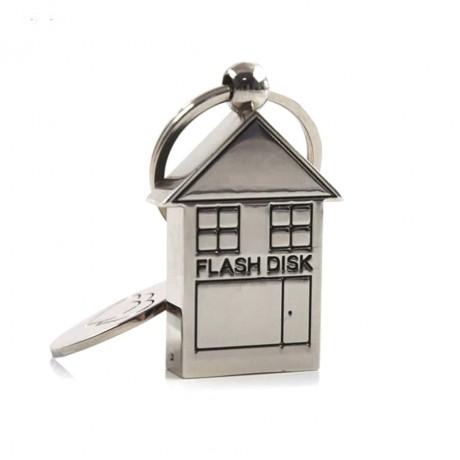 Флешка металлическая House
