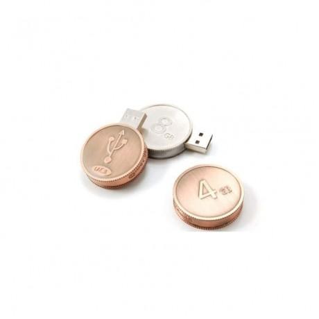 Флешка металлическая Coin