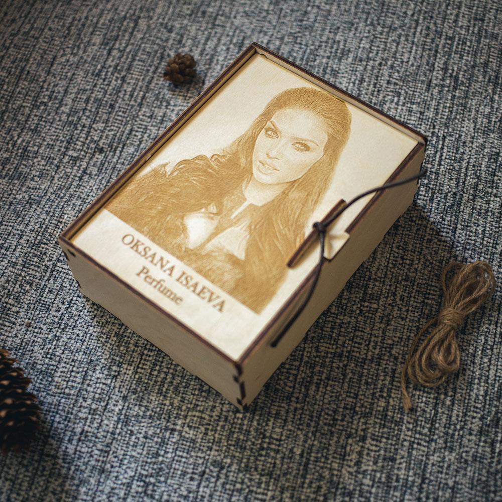 Подарочная деревянная коробочка Bloom S+
