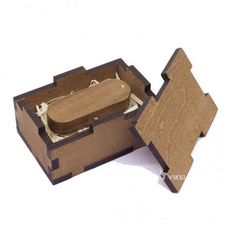 Коробочка из дерева Eco для флешки