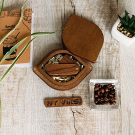 Коробочка деревянная Leaf