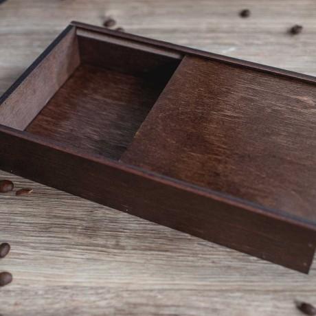 Коробочка деревянная DreamBox для фото 10х15 см и флешки