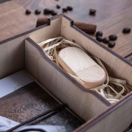 Коробочка деревянная Elit под фото 10х15 и флешку