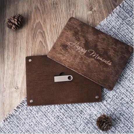 Коробочка деревянная Flat под флешку