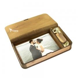 Коробочка деревянная Flex под фото 10х15 и флешку