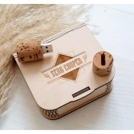 Коробочка деревянная Flex для флешки или маленького подарочка