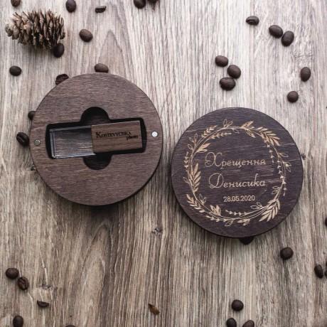 Коробочка деревянная Silent под флешку