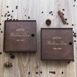 Коробочка деревянная Solid для фото 10х15 см и флешки