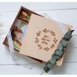 Коробочка деревянная Solid для фото 15х21 и флешки