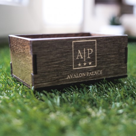 Подставка-коробочка для сахарных стиков или пакетиков чая на стол, с брендированием (Stick)