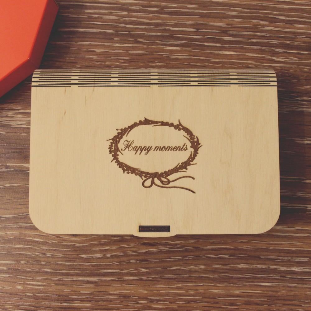 Коробочка деревянная Flex под фото 13х18 и флешку