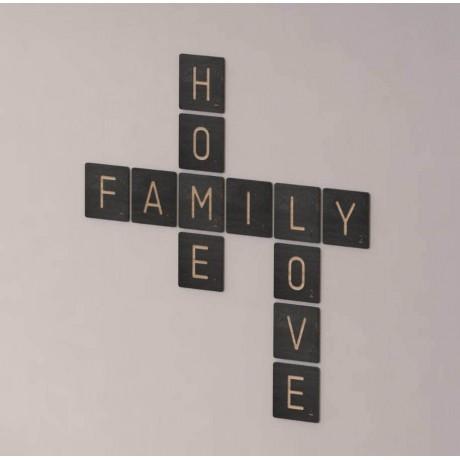 Скрабл на стену HomeFamilyLove